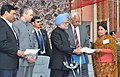 The Prime Minister, Dr. Manmohan Singh gave away the Allotment Order, at the inauguration of the Jagti Township for Kashmiri Migrants, in Jammu on March 04, 2011.jpg