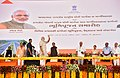 The Prime Minister, Shri Narendra Modi at Foundation Stones laying ceremony of the Greenfield Airport for Rajkot and other road development projects, at Chotila, Gujarat.jpg