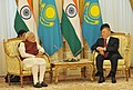 The Prime Minister, Shri Narendra Modi in a restricted meeting with the President of the Republic of Kazakhstan, Mr. Nursultan Nazarbayev, at Akorda President's Palace, in Astana, Kazakhstan on July 08, 2015.jpg