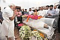 The Prime Minister, Shri Narendra Modi visited the residence of Shri L.K. Advani and paid tributes to late Smt. Kamla Advani, in New Delhi on April 06, 2016 (1).jpg
