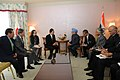 The Secretary General, Democratic Party of Japan, Mr. Yukio Hatoyama alongwith a delegation called on the Prime Minister, Dr. Manmohan Singh, in Tokyo, Japan on October 23, 2008.jpg