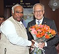 The Swiss Federal Councillor for Economic Affairs, Mr. Johann N. Schneider-Ammann meeting the Union Minister for Labour and Employment, Shri Mallikarjun Kharge, in New Delhi on April 07, 2011.jpg