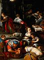 The birth of the Virgin. Oil painting after Francesco Bassan Wellcome V0017236.jpg