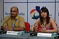 """The film Producer, Preeti Jhangiani addressing a press conference on the film """"Sahi Dhandhe Galat Bande"""", during the 42nd International Film Festival of India (IFFI-2011), in Panaji, Goa. The Director (M&C), PIB.jpg"""