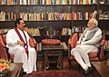 The former president of Sri Lanka, Mr. Mahinda Rajapaksa meeting the Prime Minister, Shri Narendra Modi to discuss the development cooperation opportunities, in Colombo Sri Lanka on March 14, 2015.jpg
