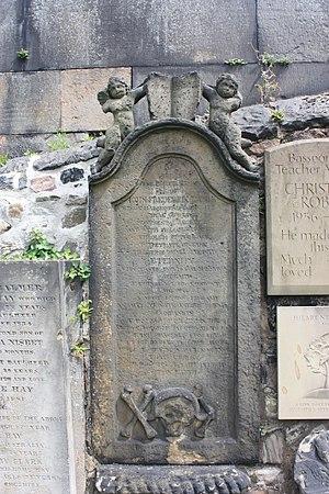 John Frederick Lampe - The grave of John Frederick Lampe, Canongate Kirkyard