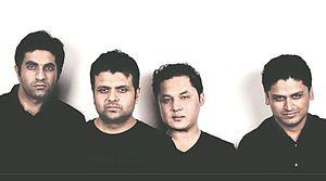 Them Clones - From left to right: Akshay Raheja, Surojit Dev, Joseph Lalhmachhuana, Prithwish Dev, New Delhi, August 2015