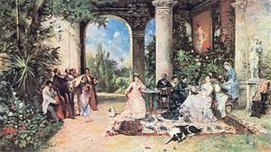 Romani society and culture - Romani musicians entertaining