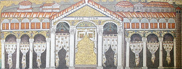 Contemporary mosaic of the Palace of Theodoric.