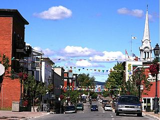 Thetford Mines City in Quebec, Canada