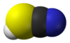 Spacefill model of thiocyanic acid