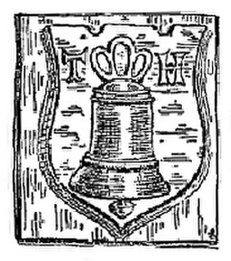 Hatch bell foundry - Image: Thomas Hatch bell stamp