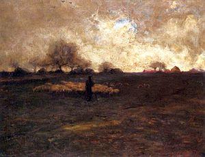 Thomas Millie Dow - Thomas Millie Dow: Late Autumn At Barbazon (1879)