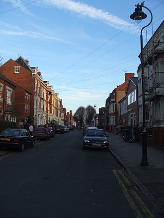 Highfields, Leicester - An image of Tichbourne Street in Highfields taken in February 2008