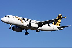 Airbus A320-200 der Tiger Airways
