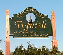 Primary Tignish welcome sign, located on Western road (Phillip street)