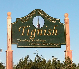 Tignish, Prince Edward Island - Primary Tignish welcome sign, located on Western road (Phillip street)