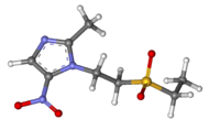 Tinidazole ball-and-stick.png