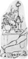 Tischbein Das verfluchte zweite Kissen Tischchen mit Arrangement und Goethes Fuß.png