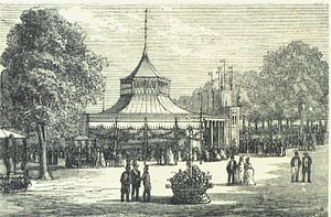 Champagne Galop - Tivoli's first concert hall (anonymous drawing from 1856)