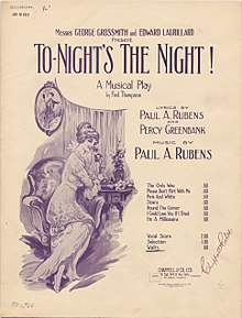 To-night's the Night! Paul Rubens sheet music cover.jpg