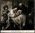 Tobias curing his father's blindness. Mezzotint by J. Young Wellcome V0048954.jpg