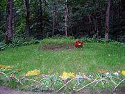 Tolstoy's grave in Yasnaya Polyana.