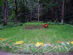 Tolstoy's grave at Yasnaya Polyana