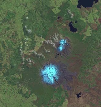 Tongariro National Park - Satellite picture of Tongariro National Park