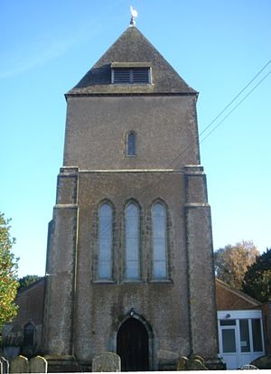 St Margaret's Church, Ifield - The tower from the west