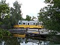 Tram and pond, 2020 Mogyoród.jpg