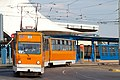 Tram in Sofia in front of Central Railway Station 2012 PD 019.jpg
