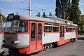 Tram in Sofia in front of Tram depot Banishora 025.jpg
