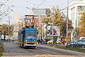 Tram in Sofia near Russian monument 028.jpg
