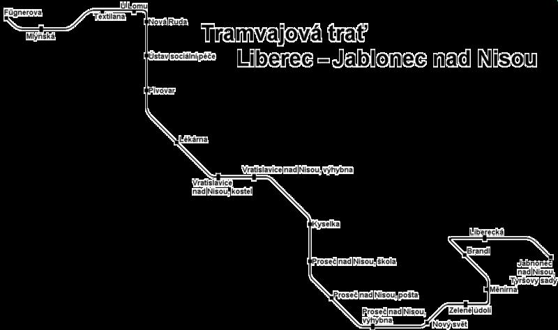 Схема трамвайной линии