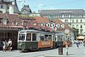 Trams in Graz car 248 on Jakominiplatz 1977.jpg