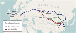 Trans-Eurasia Logistics freight train service from China