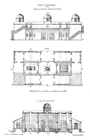 John Caldecott - Plan of the Travancore observatory (1837)