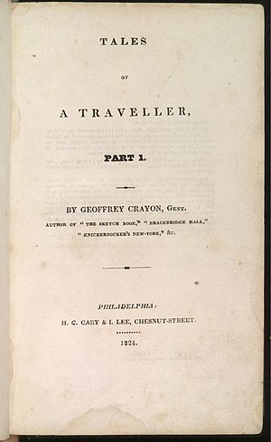 Tales of a Traveller - Volume 1 of the first US edition.