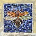 Trazerberggasse 66-68 - mosaic May bug by Maria Kiraly.jpg
