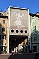 Trento, galleria dei legionari trentini, con mosaico della donna del fascio di Gino Pancheri, 1937, 01.JPG