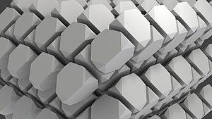 Triakis truncated tetrahedral honeycomb - Image: Triakis truncated tetrahedral honeycomb