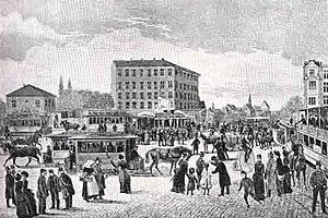 Trianglen, Copenhagen - Trianglen in 1884