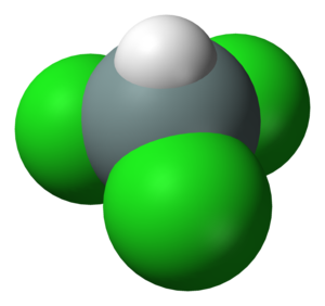 Trichlorosilane - Image: Trichlorosilane 3D vd W