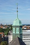 Trinitatis church bell tower, seen from Rundetårn, Copenhagen.jpg