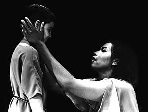 The Trojan Women - Aomawa Baker (Andromache) in The Trojan Women, directed by Brad Mays at the ARK Theatre Company in Los Angeles, 2003