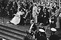 Troonswisseling 30 april , inhuldiging in Nieuwe Kerk Koningin Beatrix tijdens, Bestanddeelnr 930-8058.jpg