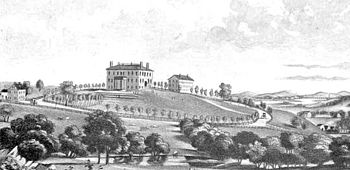 An early view of Tufts College from 1853.