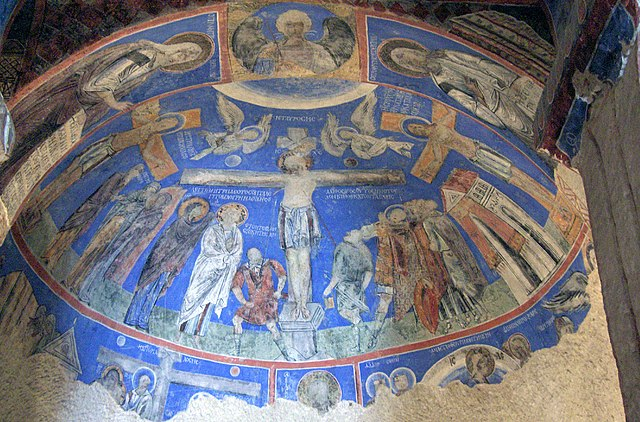 Fresco de la crucifixión del s.X, Iglesia Tokali, Göreme Open Air Museum