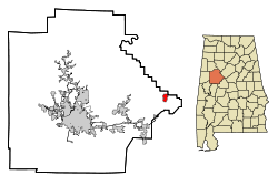 Location in Quận Tuscaloosa, Alabama